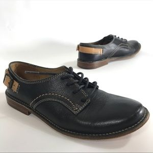 Frye Paige Oxford Shoes Lace-Up Black Leather 5.5